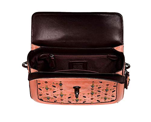 in 24075 COACH Nickel Crossbody Rivets Melon Dark Prairie Page wIrIqS8