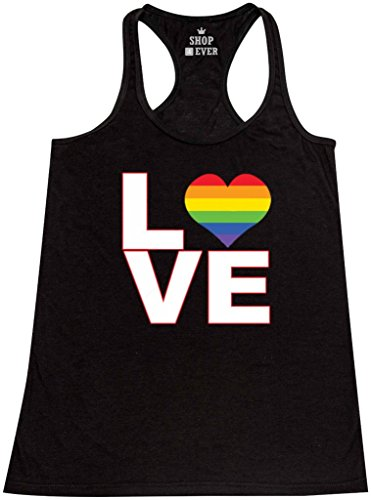 Shop4Ever Rainbow Bright Womens Racerback product image
