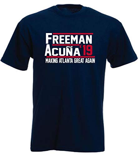 Navy Atlanta Freeman Acuna Jr 2019 T-Shirt Youth