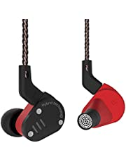 Yinyoo KZ ZSA In ear Headphones Hybrid Hifi Earphones Wired Earbuds Metal Earphones with 2Pin Detachable Cable