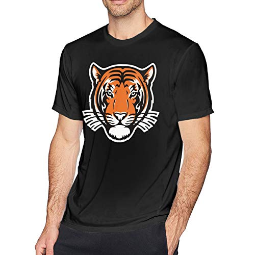 Princeton Tigers Helmet Strapped T-Shirt Men's Casual Crew Neck T-Shirts Tee Shirts Size:S-6XL - Tigers Helmet Premium