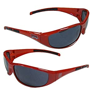 NCAA 3-Dot Wrap Sunglasses-UVA and UVB Protection-Many Teams! (NC State Wolfpack)