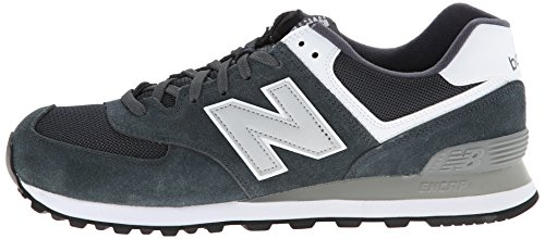 888546369214 - New Balance Men's ML574 Picnic Pack Collection Classic Running Shoe, Dark Grey/Silver, 7 D US carousel main 4