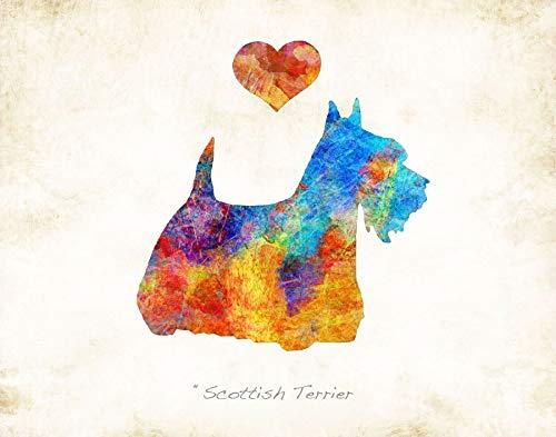 SCOTTISH TERRIER Dog Breed Watercolor Art Print by Dan Morris