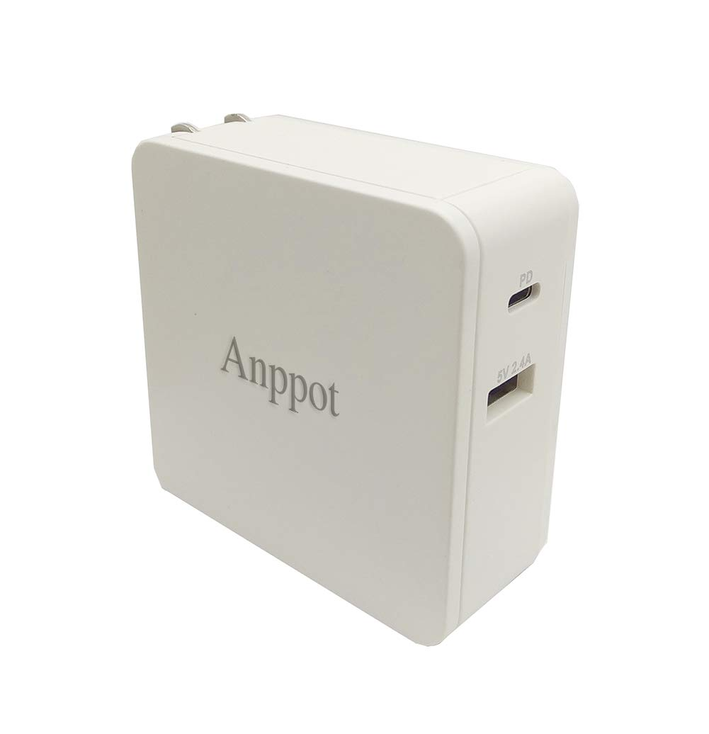 cheap for discount 1075c fcfc1 USB C Charger, ANPPOT Dual Port 45W Wall Charger, PD Wall Charger for  MacBook, Pixel, iPhone X/8/8 Plus, and PowerIQ 2.0 for S9/S9+/S8/S8+, Note  8, ...