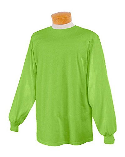 picture of Jerzees 5.6 oz., 50/50 Heavyweight Blend Long-Sleeve T-Shirt-S (Kiwi)