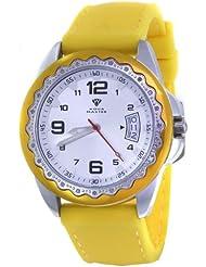 Unisex Aqua Master White Dial Yellow/Silver Tone Case 0.24ct Diamond Watch W344
