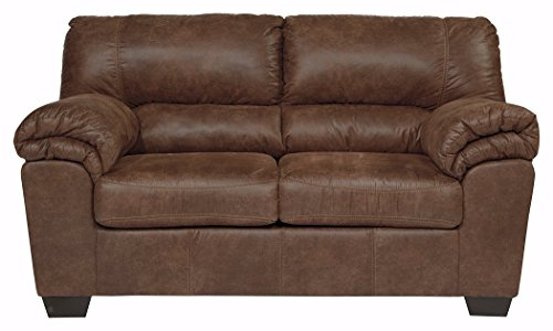 Ashley Furniture Signature Design - Bladen Contemporary Plush Upholstered Loveseat - Coffee ()