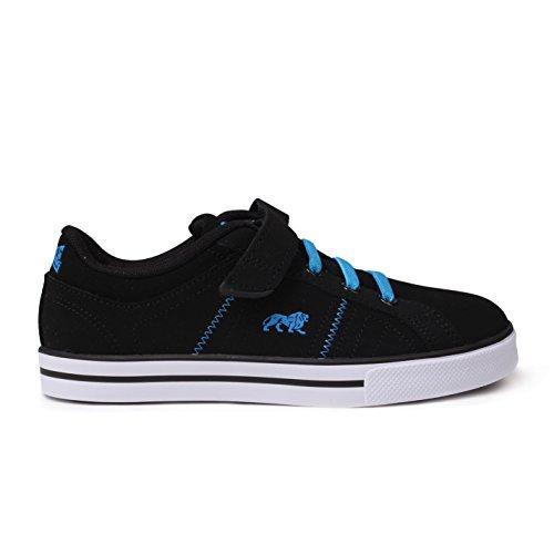 Lonsdale - Zapatillas de Piel para niño Negro - negro / azul