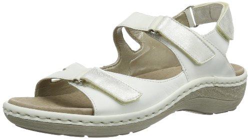 Remonte Remonte - Sandalias con correa de tobillo Mujer Blanco (Weiß (weiss/ice 80))