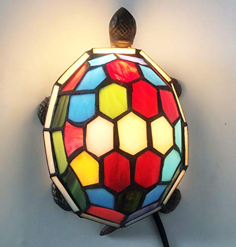 Tiffany Turtle lamp Stained Glass Turtle Night Light Tiffany lamp, Turtle HMJ80012 (Lamp Stained Turtle Glass)