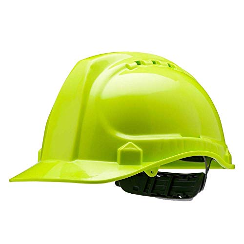 """AMSTON Safety Hard Hat, Head Protection, """"Keep Cool"""" Vented Helmet, Fully Adjustable, Low Profile, Cap Style, Type 1 Class C, Construction, ANSI Z89.1 (1 Unit, Green)"""