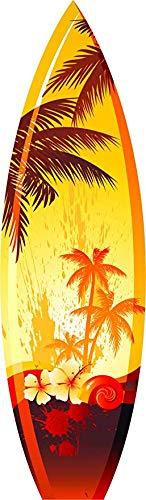 Magnet Pretty Golden Tropical Beach Sunset Surfboard Vinyl Magnet (8