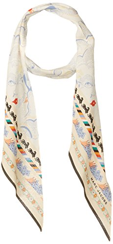 Marc Jacobs Women's Doing Dishes Silk Scarf, Ivory, One Size