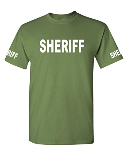 The Goozler Sheriff - Law Enforcement Duty Police cop - Mens Cotton Tee, 2XL, Military