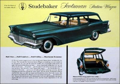 1958 STUDEBAKER SCOTSMAN STATION WAGON COLOR SALES BROCHURE - GREAT ORIGINAL !! - Studebaker Wagon