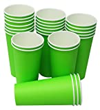 Hot Party Paper Cups, 20 Ounce, Multiple Colors (500 Count, Green)