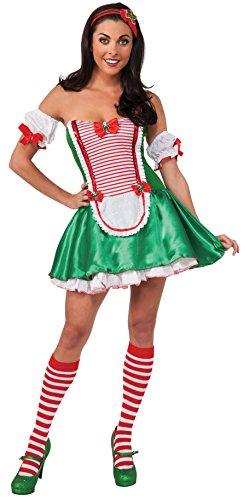 Secret Wishes Christmas Collection Peppermint Cutie Costume, Green/Red/White,