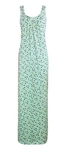 El Orange etiquetas para New para mujer pijamas Ladies Sleevelss algodón camisón semitransparente camisón transparente 18–�?2 Blue Rose Print
