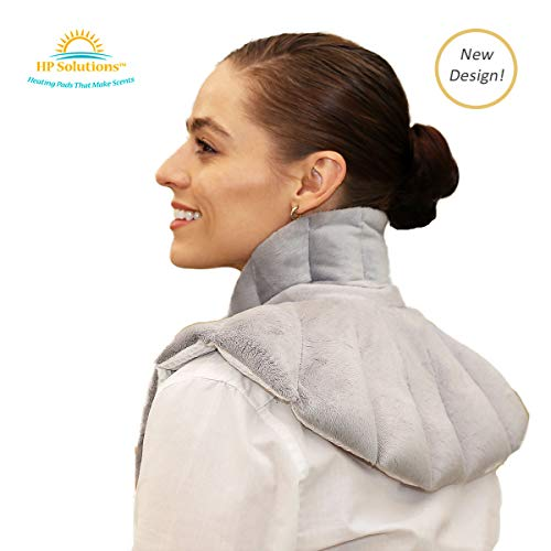 Heating Pad Solutions - Neck Buddy Plus - Warmer Wraps for Shoulder & Upper Body – Lavender Scent, Aromatic, Microwavable, Reusable - Relax & Relieve Pain, Stress, and Sore Muscles (Lavender Scent)