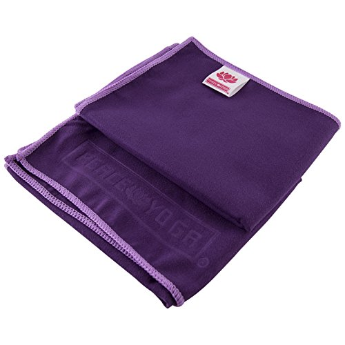 Peace Yoga Non Slip Suede Exercise Towels Purple [15
