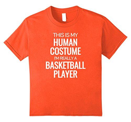 Halloween Basketball Costume (Kids Human costume Im really a basketball player Halloween Tshirt 12)