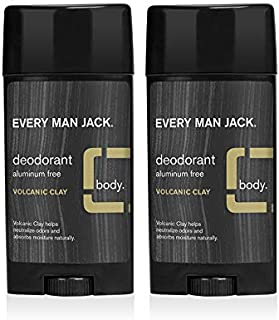 product image for Every Man Jack Deodorant - Volcanic Clay | 2.7-ounce Twin Pack - 2 Sticks Included | Naturally Derived, Aluminum Free, Parabens-free, Pthalate-free, Dye-free, and Certified Cruelty Free
