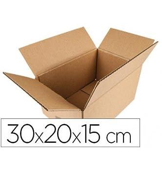 Q-Connect Caja Para Embalar Americana Medidas 300X200X150 Mm Espesor Cartón 5 Mm: Amazon.es: Oficina y papelería