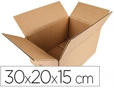 Q-Connect - Caja Para Embalar Americana Medidas 300X200X150 Mm Espesor Cartón 5 Mm: Amazon.es: Oficina y papelería