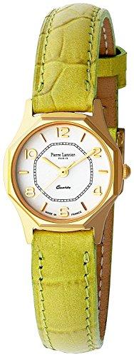 Pierre Lannier watch octagonal Watch Gold / Green P043504 C72 Ladies