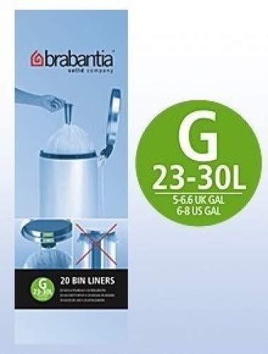 Brabantia - Bolsas de basura (6 rollos de 20 unidades, 30 L ...