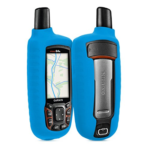kwmobile Case for Garmin GPSMAP 64 / 64s / 64st - GPS Handset Navigation System Soft Silicone Skin Protective Cover - Blue