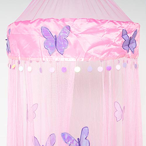 Octorose Butterfly Bed Canopy Mosquito NET Crib Twin Full Queen King - Bedding Canopy Sets