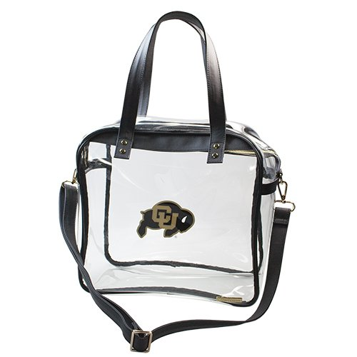 University of Colorado Boulder Buffaloes Capri Designs Clearly Fashion Licensed Clear Carryall Tote Meets Stadium Requirements by CAPRI DESIGNS