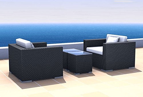 Gartenmöbel Rattan Lounge Espace Start 3 - 2 Sitze inkl. Kissen Polyrattan, dunkelbraun