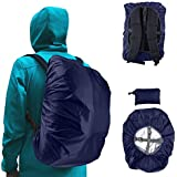 Frelaxy Waterproof Backpack Rain Cover (15-90L), Upgraded Vertical Buckle Strap & Silver Coated, Rainproof Storage Pouch Included, Perfect Hiking, Camping, Traveling, Cycling, Outdoor Activities
