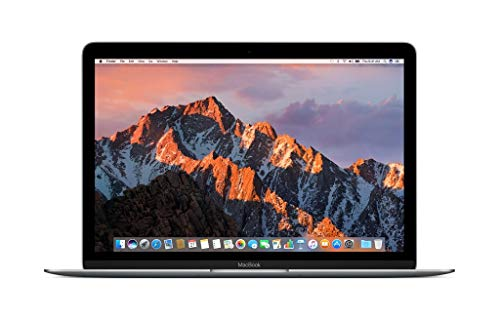 Apple MNYF2LL/A 12in MacBook, Retina, 1.2GHz Intel Core m3 Dual Core Processor, 8GB RAM, 256GB SSD, Mac OS, Space Gray (Newest Version) (Renewed) 1.2 Ghz Intel Core