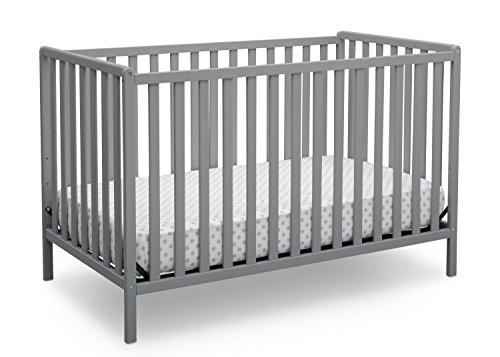 Delta Children Heartland 4-in-1 Convertible Crib, Grey (Convertible Crib Toddler Bed)
