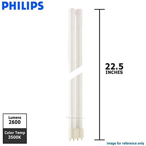 (Case of 25) Philips 209148 - PL-L 40W/835/XEW/4P/IS 25W Single Tube 4 Pin Base Compact Fluorescent Light Bulb