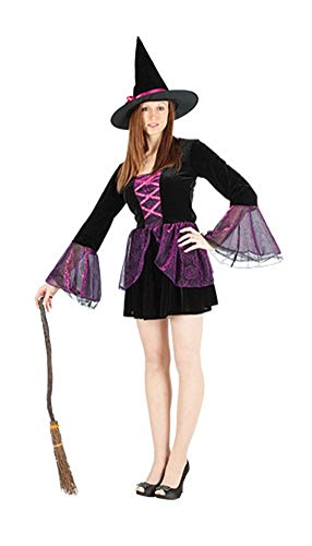 Hocus Pocus Zombie Costume (Ladies Halloween Hocus Pocus Witch Costume Onesize US 4-10 (Onesize (US 4-10), black))