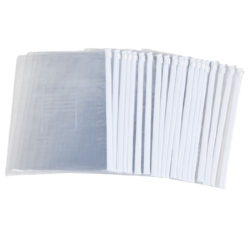 Uxcell A5 Paper Slider Ziplock Folders Files Bags, 20 Pie...