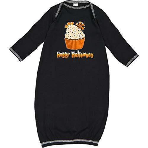 inktastic - Happy Halloween- Cute Candy Corn Cupcake Newborn Layette Black 2bc4c