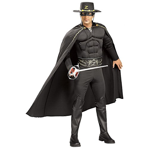 Deluxe Muscle Chest Zorro Adult Costume - Standard