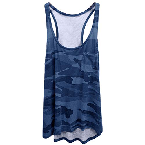(Gahrchian Camouflage Tank Tops for Women Yoga Shirts Cotton Running Activewear Tops Loose Fit Tops)
