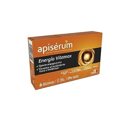 Apisérum Vitamax Cápsulas - Jalea Real, Vitaminas, Minerales, Aminoácidos, Ginseng - Multivitamínico - Aporte de Energía Extra y Vitalidad: Amazon.es: Salud ...