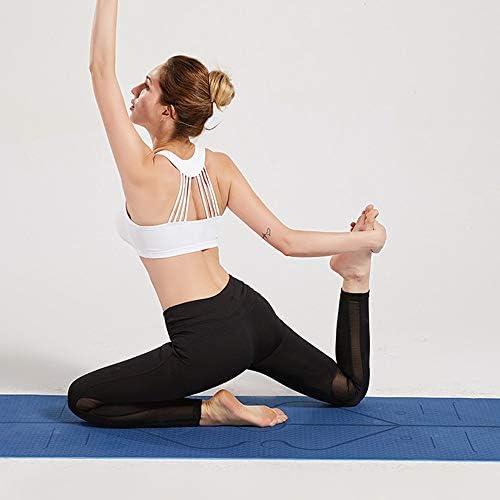 Yoga Mat, Tapete de Yoga, Estera de Yoga, 6mm Eco Friendly Pilates Mat, Colchoneta de Yoga Extra Larga y Ecológica Colchón de Ejercicios Antideslizante Esterilla de Entrenamiento para Pilates y Yoga con un Sistema de Alineación Corporal 9