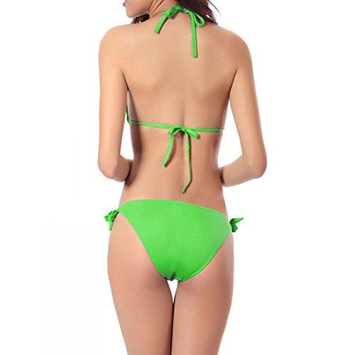 Xinvision Mode D'une Seule Pièce Maillot De Bain Bikini Rembourré Doux Élastique Taille Beachwear De Vacances D'été En Forme Mince De Maillots De Bain De Plage Pour Femmes Vertes