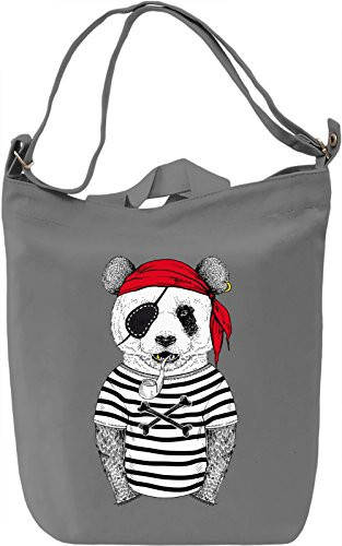 Pirate panda Borsa Giornaliera Canvas Canvas Day Bag| 100% Premium Cotton Canvas| DTG Printing|