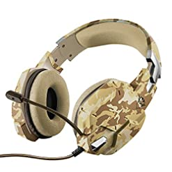 Trust Gaming 22125 GXT 322D Carus Gaming Headset for PC , Laptop, PS4 and Xbox One, Desert Camo