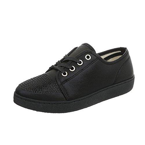 AAA Para Zapatillas Zapatos Bajas Plano Ital Negro Zapatillas 41 Design Mujer 7xzwqEEF6